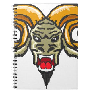 Satan Horned Beast Sketch Notebooks