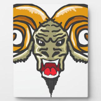 Satan Horned Beast Sketch Plaque