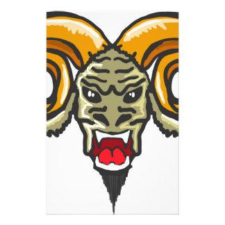 Satan Horned Beast Sketch Stationery