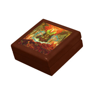Satan inspiring the world small square gift box
