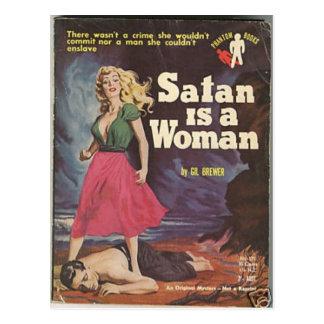 satan is a woman! postcard