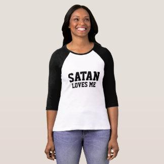 Satan of loves ME - baseball - Girls - shirt