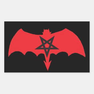SATAN Pentagram Rectangular Sticker
