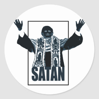SATAN Pope Round Sticker