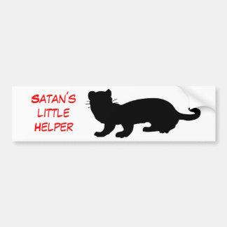 Satan´s little Helper also ferret-outlined Bumper Sticker