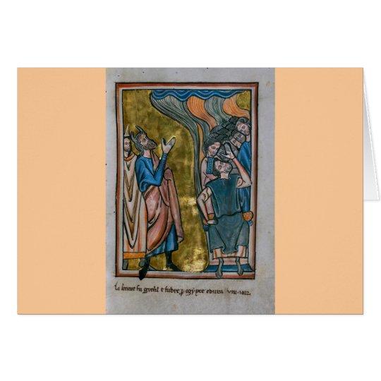 Satan Tempts the King Card