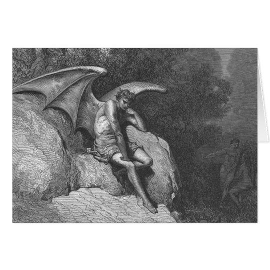 Satan Thinking Greeting Card