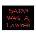 Satan Was A Lawyer Postcard
