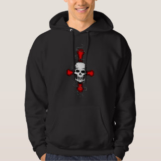 Satanic Cross Skull Hoodie