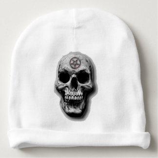 Satanic Evil Skull Design Baby Beanie