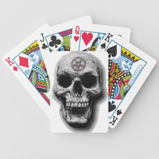 Satanic Evil Skull Design Bicycle Playing Cards
