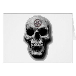 Satanic Evil Skull Design Card