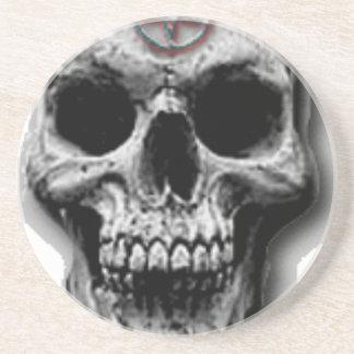 Satanic Evil Skull Design Coaster