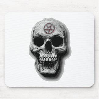 Satanic Evil Skull Design Mouse Pad