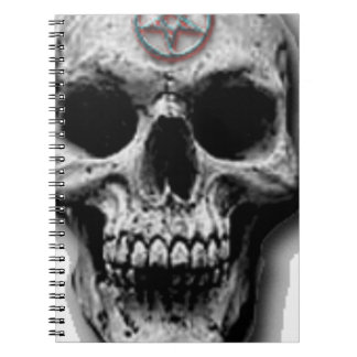 Satanic Evil Skull Design Notebook