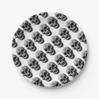 Satanic Evil Skull Design Paper Plate