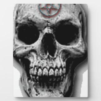Satanic Evil Skull Design Plaque
