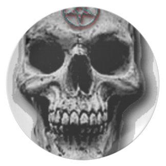 Satanic Evil Skull Design Plate