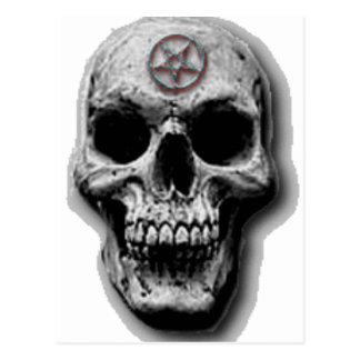 Satanic Evil Skull Design Postcard