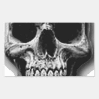 Satanic Evil Skull Design Rectangular Sticker