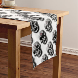 Satanic Evil Skull Design Short Table Runner