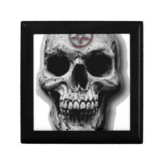 Satanic Evil Skull Design Small Square Gift Box