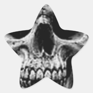 Satanic Evil Skull Design Star Sticker