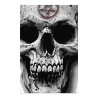 Satanic Evil Skull Design Stationery