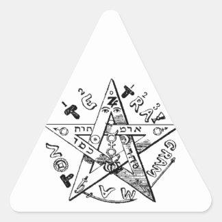 Satanic Pentagram Triangle Sticker