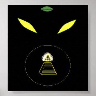 Satanic Reptilian Poster