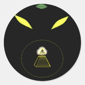 Satanic Reptilian Sticker
