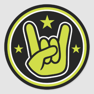 Satanic Sign of the Horns Heavy Metal Salute Stickers