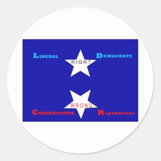 Satanic Star Round Sticker