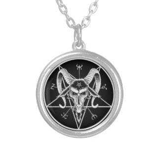 satanic symbol necklace
