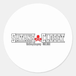 Satans Closet Clothing - Satanic Humor At It's Wor Round Sticker