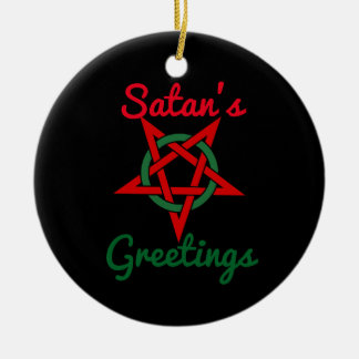Satan's Greetings Ornament