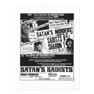 SATAN'S SADISTS POSTCARD