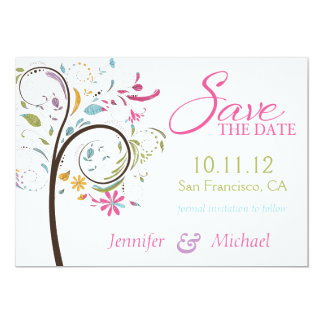 Sate the Date Doodle Tree Card