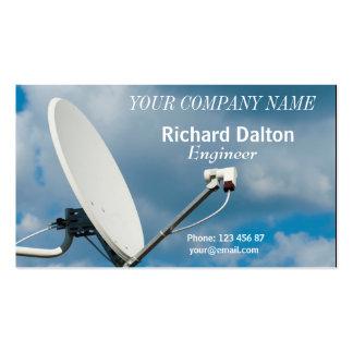 Satellite dish business card templates