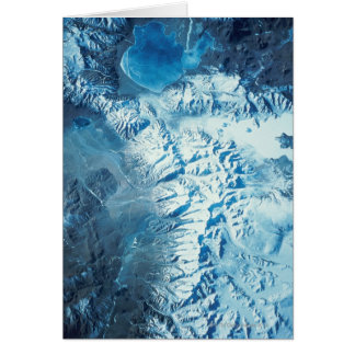 Satellite Image of a Mountain Range Card