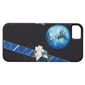 Satellite orbiting earth iPhone 5 cover