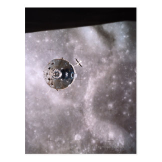 Satellite Orbiting in Space Postcard