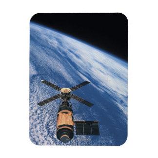Satellite Orbiting Space Rectangular Photo Magnet