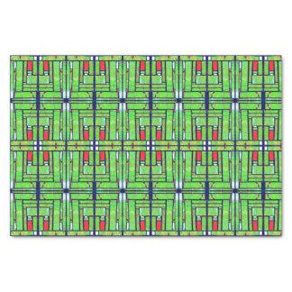 Satellite Photo Mosaic Geometric Tissue Paper