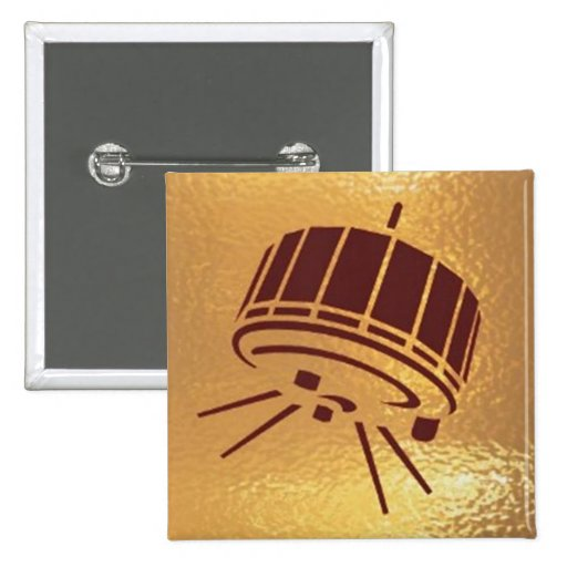 Satellite Robot Space Station - Medal Icon Gold Pins