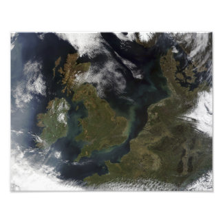 Satellite view of Northern Europe Photographic Print