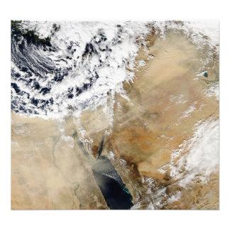 Satellite view of the Eastern Mediterranean Photo Print