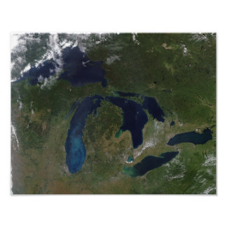 Satellite view of The Great Lakes Photographic Print