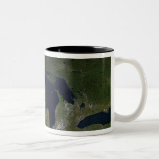 Satellite view of The Great Lakes Two-Tone Coffee Mug