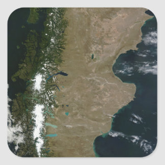 Satellite view of the Patagonia region Square Sticker